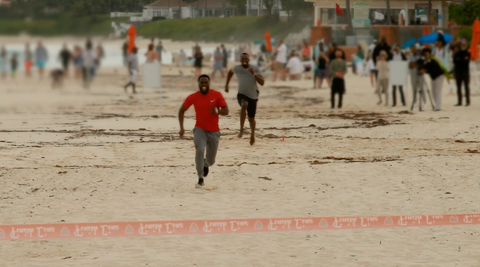 VIDEO: Kevin Hart and Usain Bolt #GameOn in a foot race on the beach